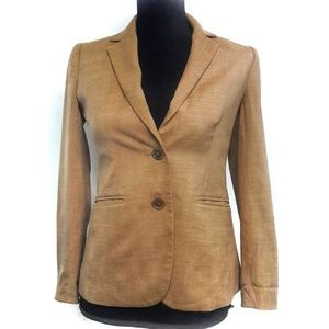 J. Crew Super 120's Tan Brown Blazer Jacket Career
